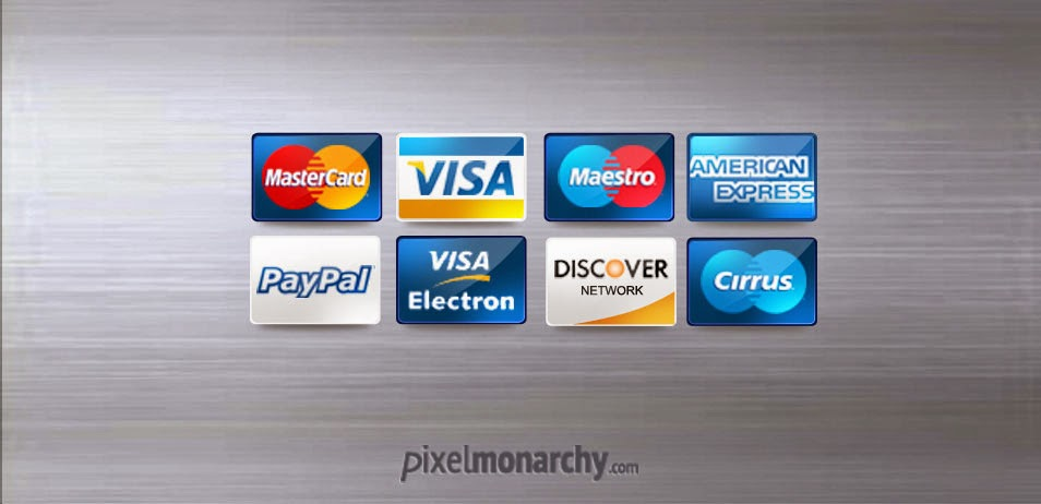 Credit or Debit Cards Icons
