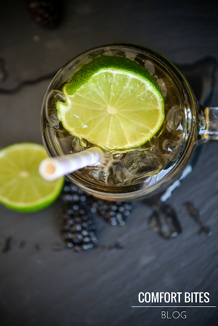 Blackberry and Lime Chamomile Iced Tea AIP paleo vegan