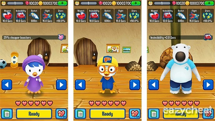 Pororo Penguin Run Cheats