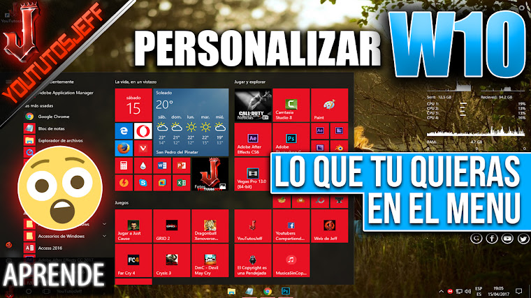Personalizar menu de inicio Windows 10 | Añadir cualquier acceso directo al menu de inicio