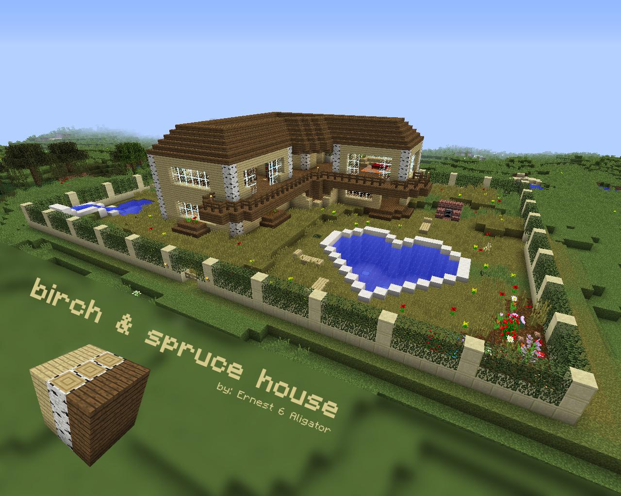 Ernest 6 Aligator Birch Spurce House Minecraft House