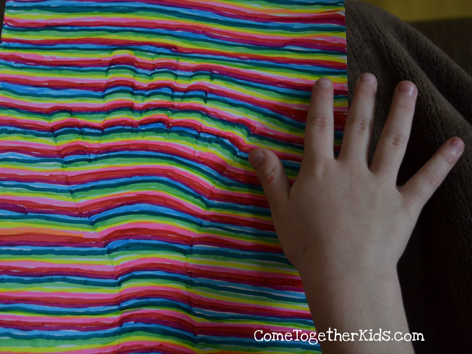 optical illusion illusions handprint hand op draw kid straight pencil lines craft line children drawing easy hands markers trace projects