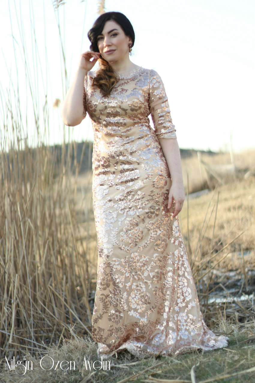 Gold Payetli Abiye-gece elbiseleri-cheap prom dresses-cheap bridesmaid dresses-moda blogu-fashion blogger