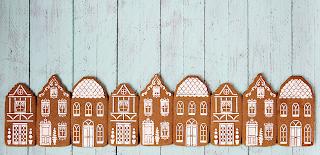 Galletas decoradas casas Navidad