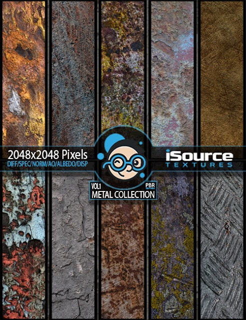 Metal Collection - Vol1 PBR Textures