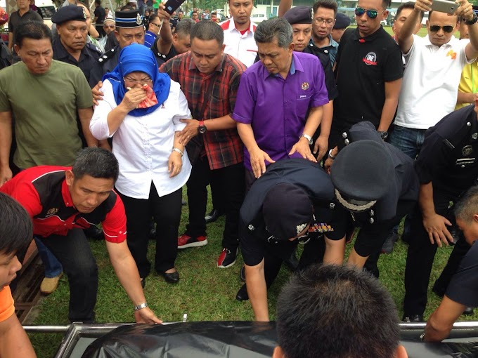 Jenazah Dato' Noriah Kasnon Selamat Tiba Di Hospital Umum Sarawak #Pray4MissingHeli