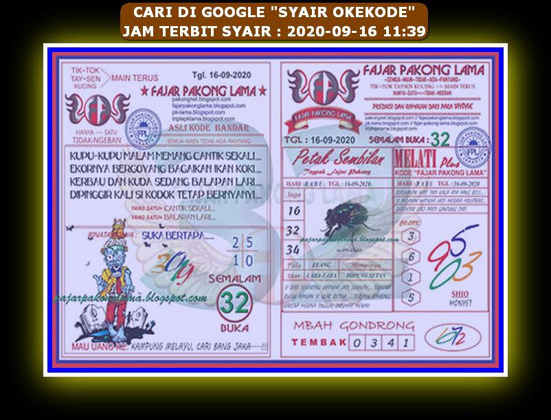 Kode syair Hongkong Rabu 16 September 2020 141
