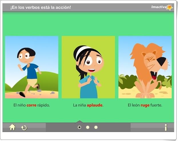 """""""¡En los verbos está la acción!"""" (Actividad interactiva de Lengua Española de Primaria)"""