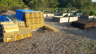 new wood delivered and ready for cutting building