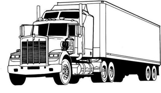 Tranh tô màu ô tô tải to
