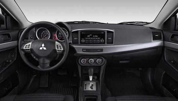 Interior view of 2017 Mitsubishi Lancer