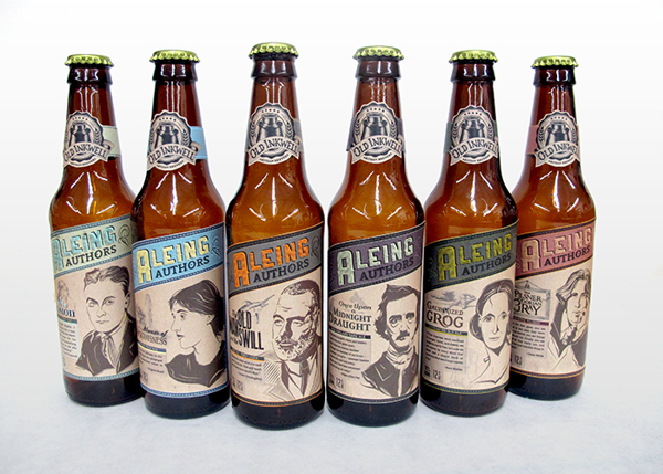 Aleing Authors Beer Labels Designed By Steph Sabo