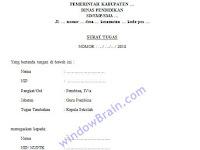 Contoh Surat Tugas Pengawasan Ujian Nasional