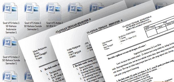 Contoh Soal UTS (Ujian Tengah Semester) SD Kelas 1 2 3 4 5