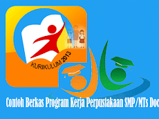 Contoh Berkas Program Kerja Perpustakaan SMP/MTs Format Words Doc