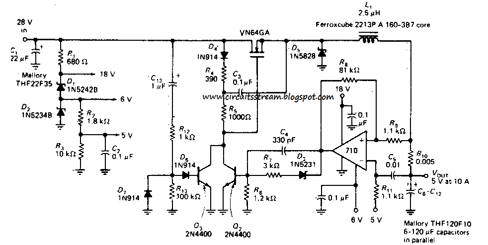 how to build switching regulator circuit diagram operating