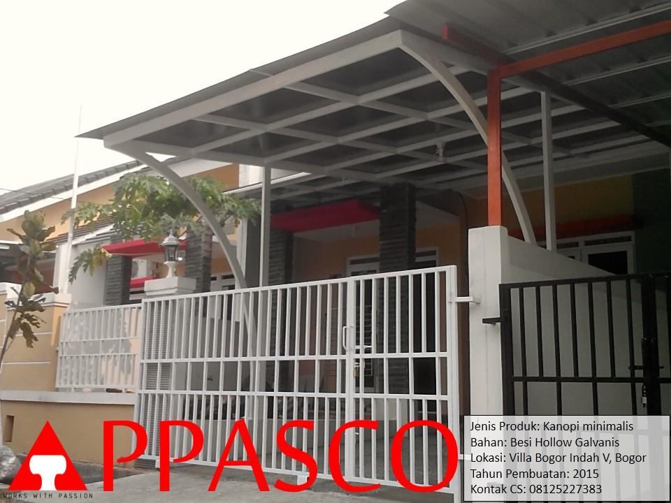 Kanopi Minimalis Modern di Villa Bogor Indah