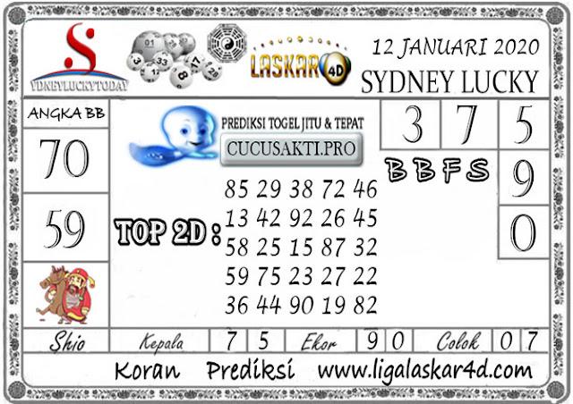 Prediksi Sydney Lucky Today LASKAR4D 12 JANUARI 2020