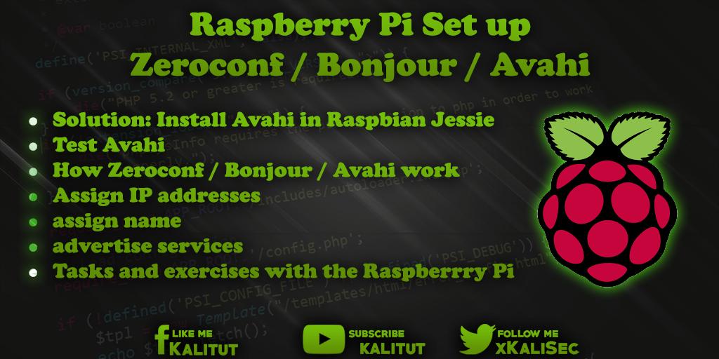 Raspberry Pi Set up Zeroconf / Bonjour / Avahi - KaliTut