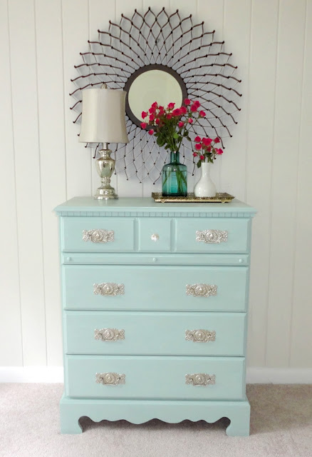 Designing on a Budget LiveLoveDIY How to Paint Laminate Furniture DIY Chest of Drawers Dresser
