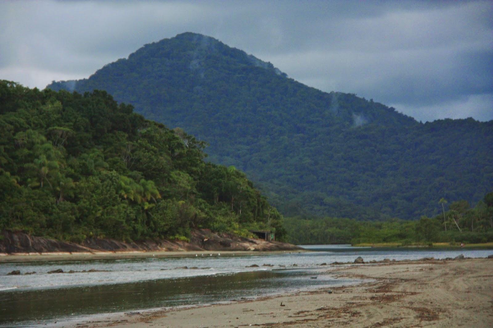 Barra do Rio Guaraú, em Peruíbe