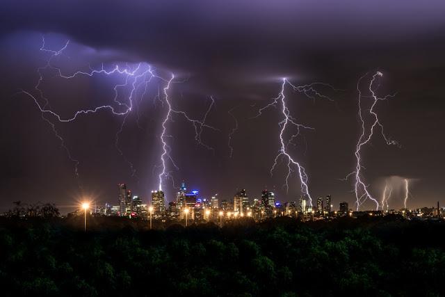 Thunderstorm, lightning show