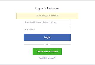 Facebook page login
