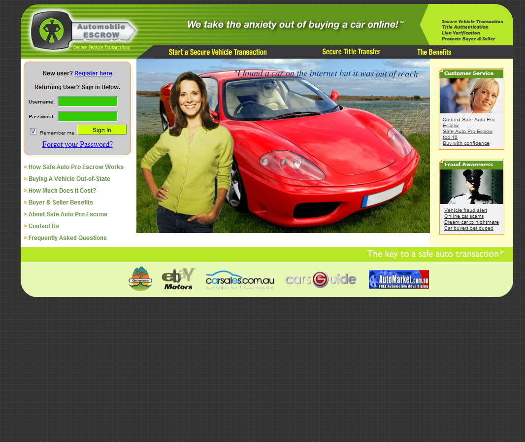 Safe Auto Customer Service >> Internet Scammers Safe Auto Pro Fraud Escrow Targeting