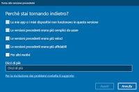 Come tornare alla versione precedente di Windows 10 (Downgrade)