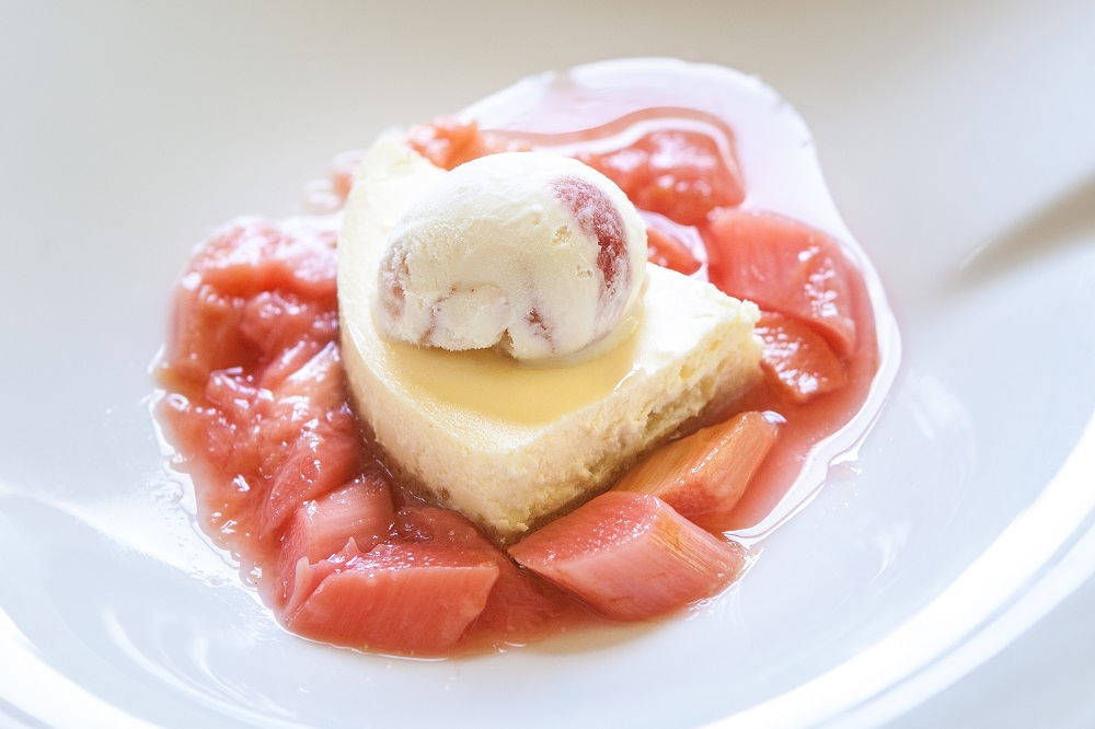 Rhubarb Cheese Cake from La Fosse at Cranborne