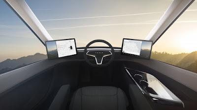 Tesla Semi Truck Interior - Driver's view