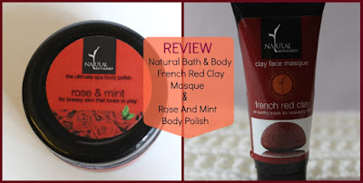 "Natural Bath & Body ""French Red Clay Face Masque"" AND ""Rose & Mint Body Polish"" Review on the blog Natural Beauty And Makeup"