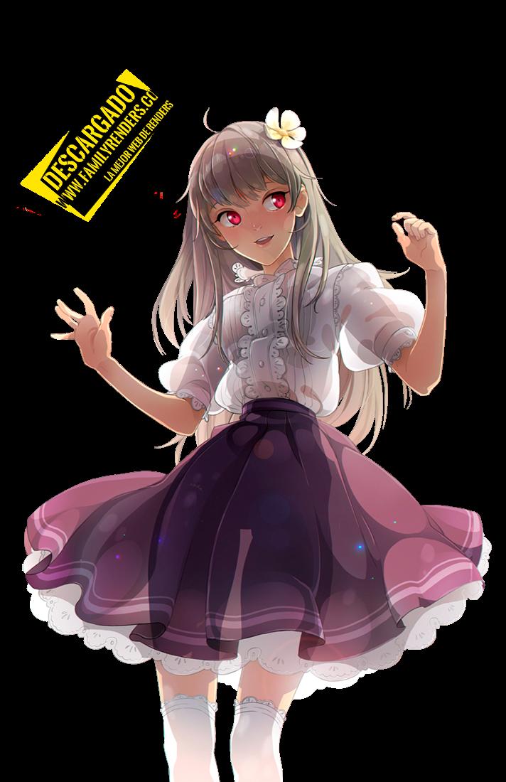 render anime girl