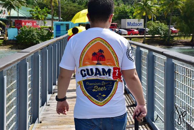 man with guam t-shirt