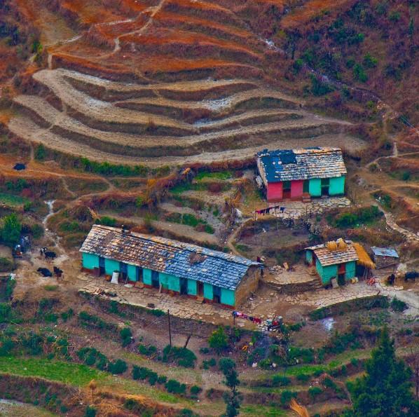 Photo of the Day - Traditional Pahadi Houses of Himalayas, Uttarakhand
