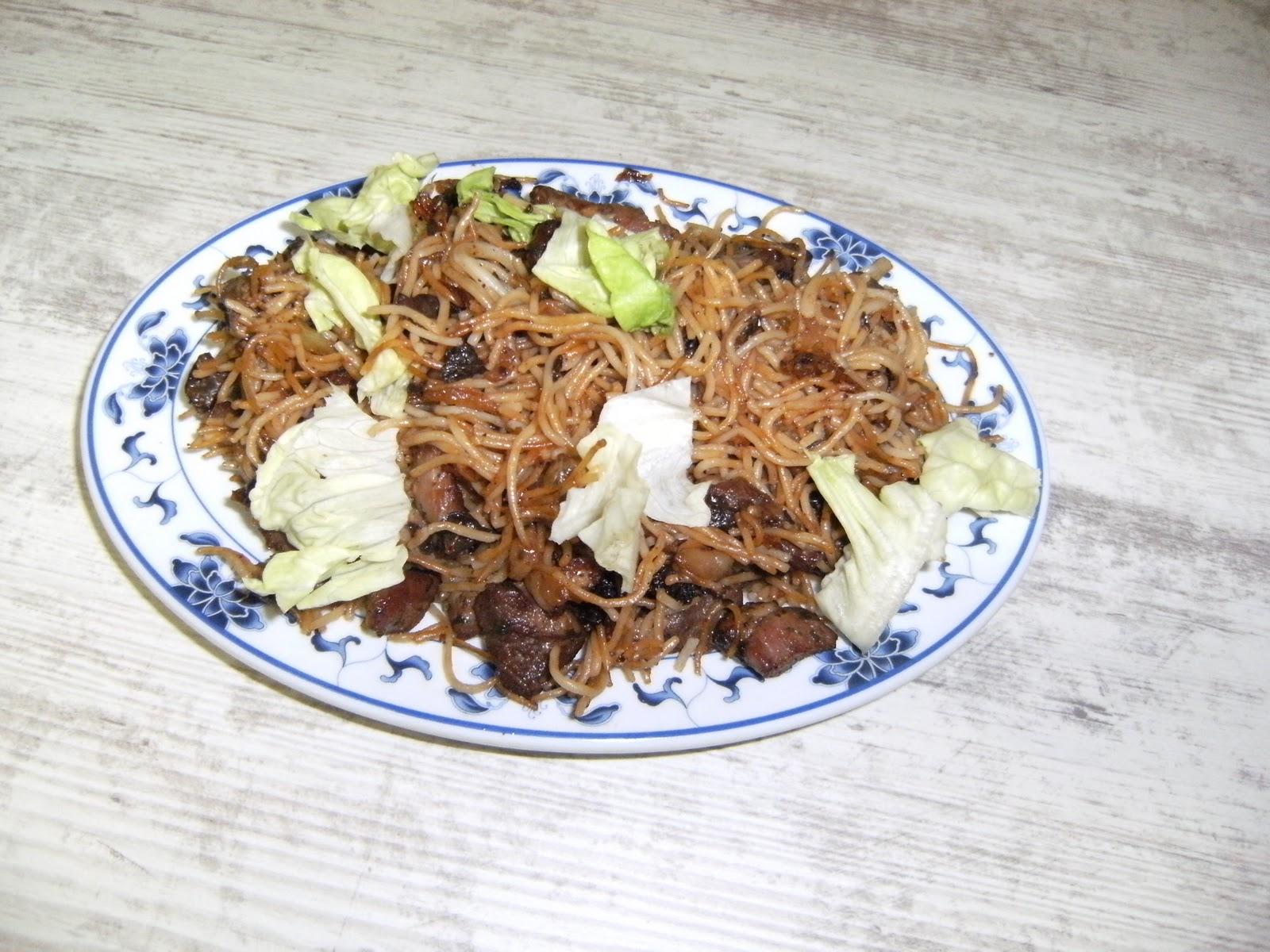 les recettes chouettes de sissi porc saut aux vermicelles de riz. Black Bedroom Furniture Sets. Home Design Ideas