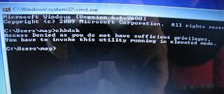 chkdsk on win 7