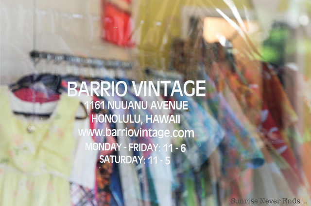 barrio vintage,vintage,vêtements,mode,hawaii,chinatown,honolulu,chemise hawaiienne,mumu,kimono