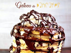 Gâteau de pancakes vanille chocolat