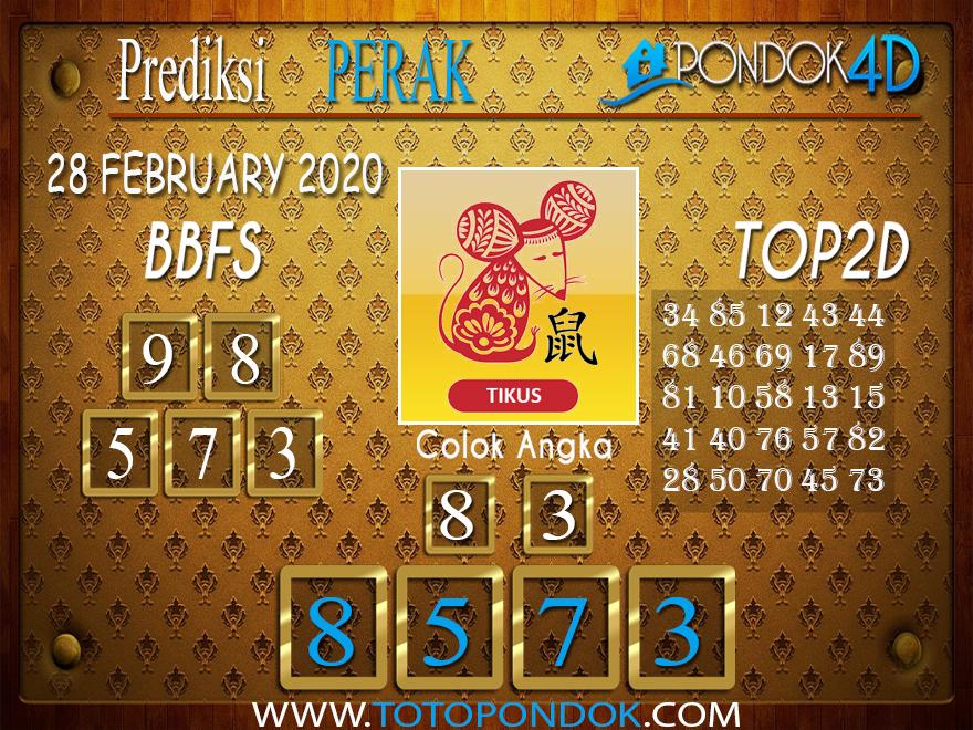 Prediksi Togel PERAK PONDOK4D 28 FEBRUARY 2020