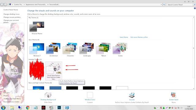 Cara Menggunakan Tema Anime Window 7 (Lengkap dengan Gambar)