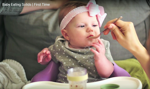 Baby Eating Solid food for the first time