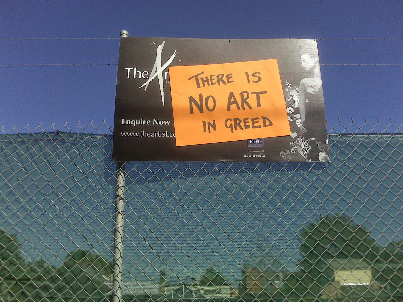 there is no Art in greed