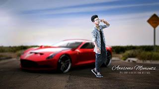 car boy, boy with car, stylish boy with car, boy posing with car