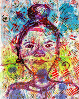 abstract art expressionism of an african woman