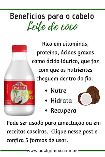 benefícios do leite de coco para o cabelo