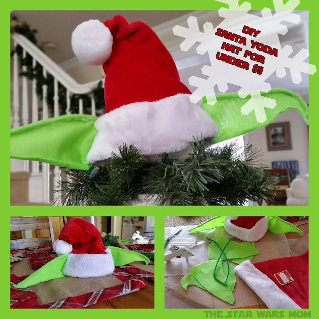 DIY Santa Yoda Hat for Under $5 - Christmas Tree Topper Decor