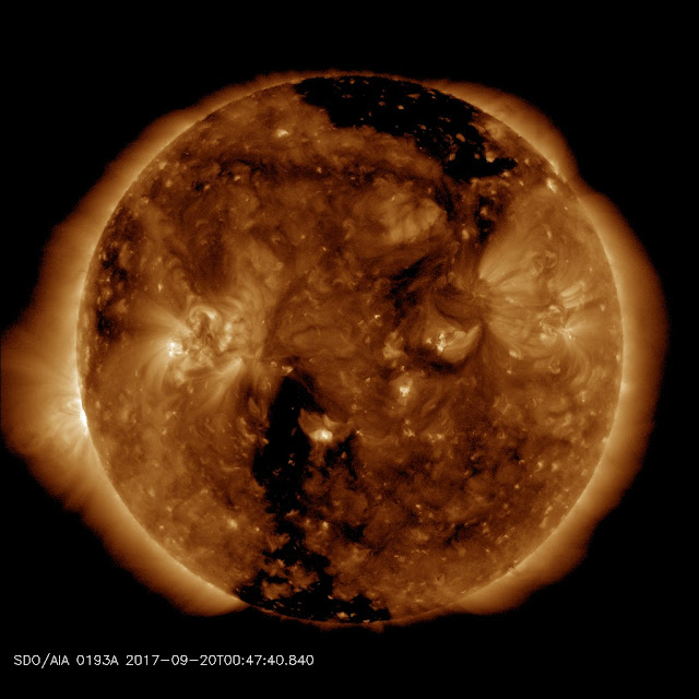 A mag 6.1 - off the east coast of Honshu, Japan & New Zealand Coronalhole_sdo_blank