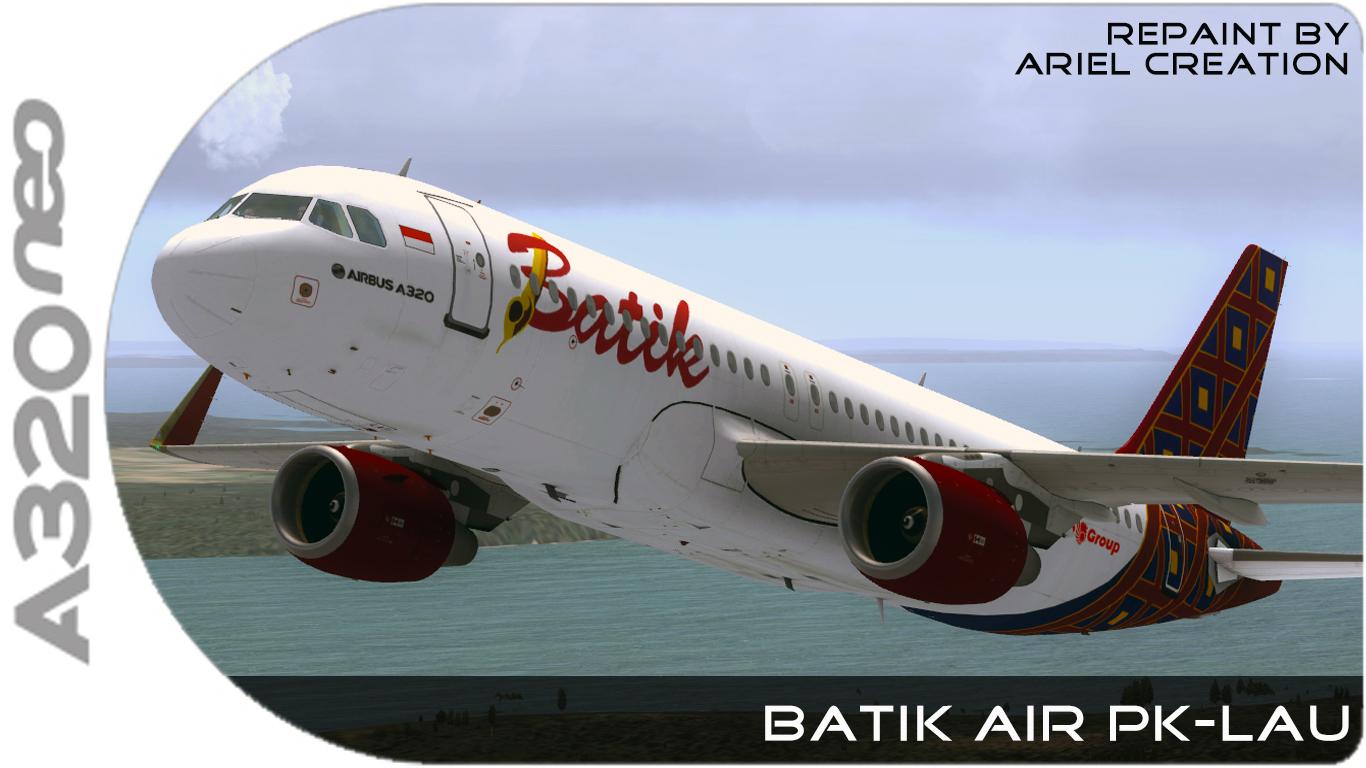 BATIK AIR Aerosoft AIRBUS A320 Livery FSX - Ariel Creation - Flight