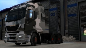 Camouflage skin for Iveco Hi-Way